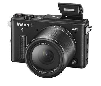 Nikon 1 AW 1 mikrojärjestelmäkamera + AW 11-27,5 mm objektiivi, musta, kuva 4