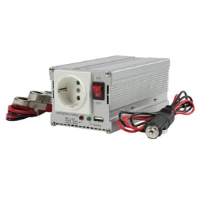 HQ 300W invertteri, 12 V -> 230 V + USB-virta