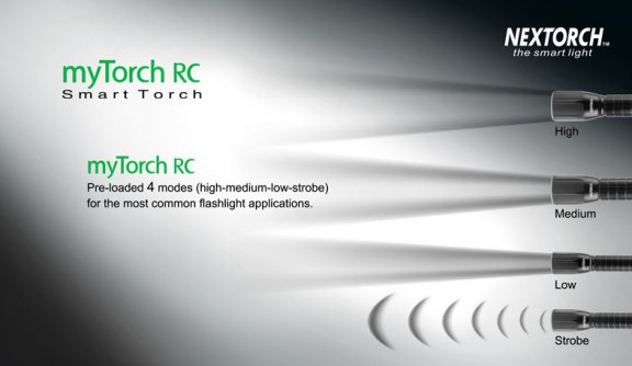 myTorch 2AA RC ohjelmoitava taskulamppu micro-USB -latauksella, 200 lumen, kuva 3