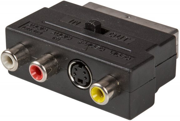 InLine SCART in/out - S-Video/RCA in/out - adapteri