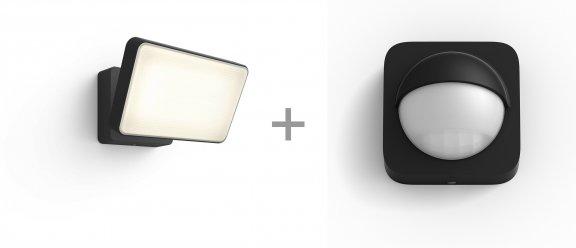 Philips Hue Discover Outdoor -älyvalonheitin ja Hue Outdoor Motion sensor -paketti