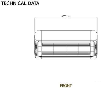 Tansun Monaco -terassilämmitin, 1,5 kW, hopea, kuva 3