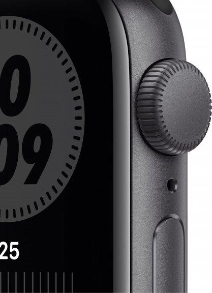 Apple Watch Nike SE (GPS) 40 mm tähtiharmaa alumiinikuori ja antrasiitti/musta Nike Sport ‑ranneke, MYYF2, kuva 2