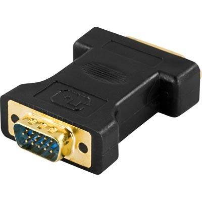 Deltaco  DVI-I naaras - VGA uros adapteri, kuva 2
