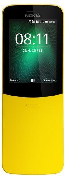 Nokia 8110 4G (2018) -peruspuhelin, keltainen