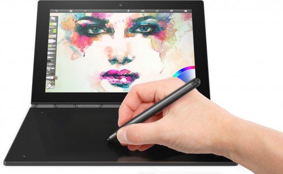 """Lenovo Yoga Book 10,1"""" Windows 10 Pro -tabletti, musta"""