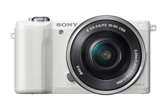 Sony α5000 KIT 16-50 mm, valkoinen