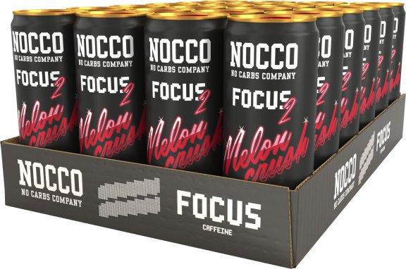 NOCCO FOCUS 2 Melon Crush -energiajuoma, 330 ml, 24-PACK, kuva 2