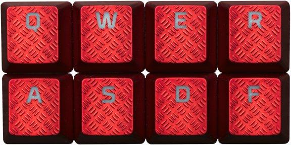 HyperX FPS & MOBA Gaming Keycaps -vaihtonäppäimet, punaiset, kuva 2
