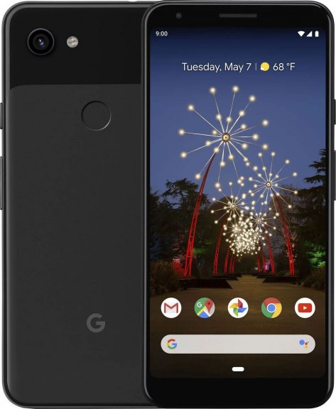 Google Pixel 3a -Android-puhelin 64 Gt, musta
