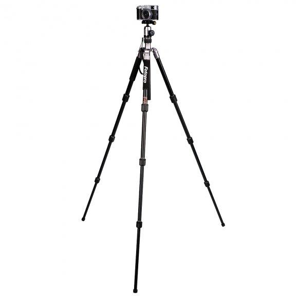 Fotopro C5I Titanium Grey + FPH-52Q kolmijalka kuulapäällä
