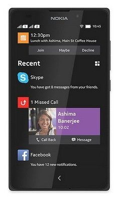 Nokia XL Android puhelin, musta
