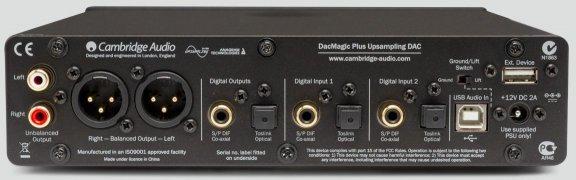 Cambridge Audio DacMagic Plus -DA-muunnin, musta, kuva 2