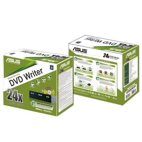 Asus DRW-24D5MT/BLK/G/A 24x DVD+/-RW -asema, musta / retail-pakattu, kuva 2