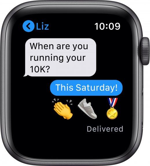 Apple Watch SE (GPS) 44 mm tähtiharmaa alumiinikuori, musta urheiluranneke, MYDT2, kuva 6