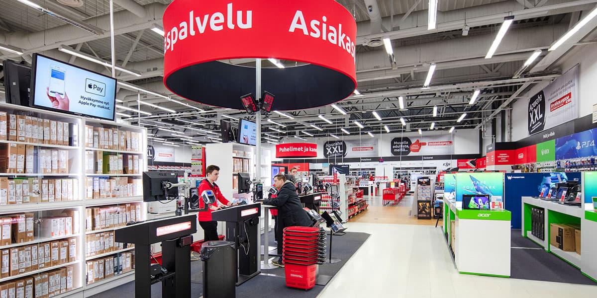 Oulun myymälän asiakaspalvelupiste