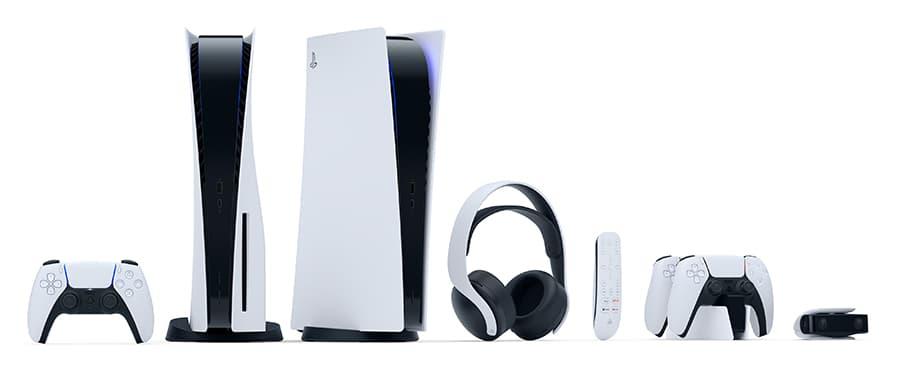 Sony Playstation 5 -konsoli ja tarvikkeet