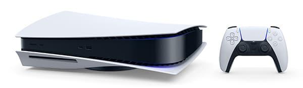 Sony Playstation 5 -konsoli kyljellään