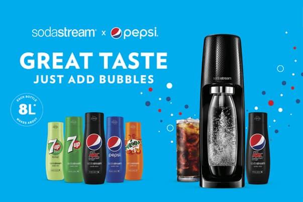 Sodastream x Pepsi -juomatiiviste