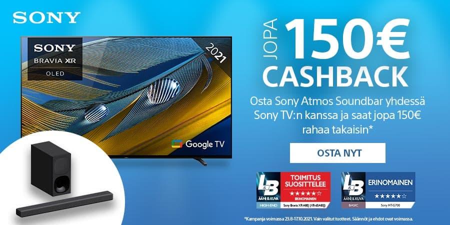 Lunasta 50€ Playstation Store -lahjakortti, kun ostat kampanjaan kuuluvan Sony BRAVIA XR –television