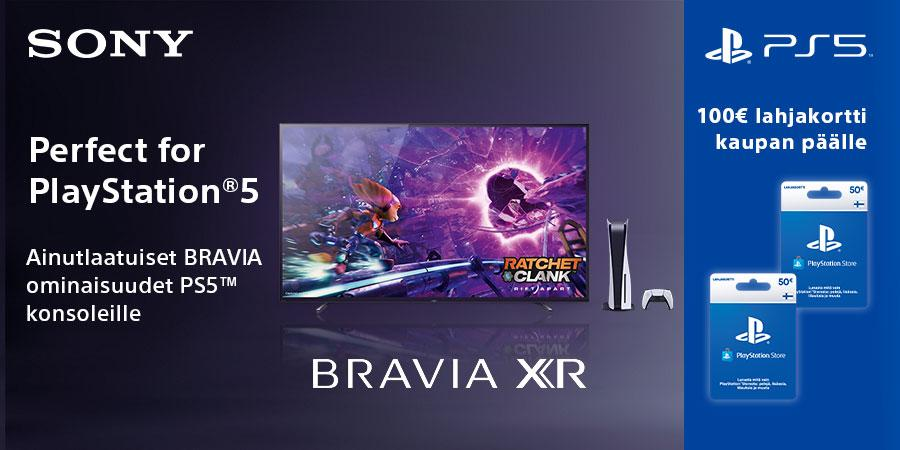 Perfect for Playstation 5 - Ainutlaatuiset BRAVIA ominaisuudet PS5 konsoleille - 100 euron lahjakorti kaupan päälle!
