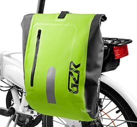 GZR Pannier -vedenpitävä pyörälaukku, huomiovihreä