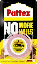 Pattex No More Nails -asennusteippi, supervahva, 19 mm x 1,5 m, 120 kg