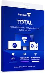 F-Secure TOTAL - Tietoturva ja VPN kaikille laitteille - 5 laitetta / 24 kk -tietoturvaohjelmisto