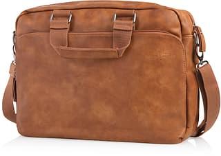 """Feru Heritage Business -laukku 15"""" kannettavalle tietokoneelle, ruskea"""