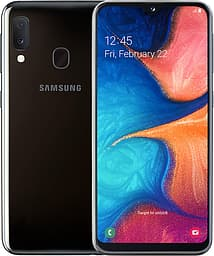 Samsung Galaxy A20e -Android-puhelin, Dual-SIM, 32 Gt, musta