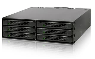 "IcyDock MB996SP-6SB 6-in-1 Hot Swap 6-Bay, kiintolevykotelo 5.25"" -paikkaan"