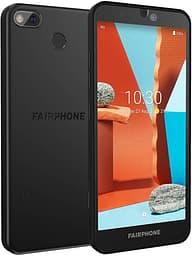 Fairphone 3+ -Android-puhelin Dual-SIM, 64 Gt, musta