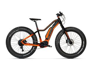 Tunturi eMAX 2020 Fatbike -sähköpyörä, 45 cm, musta/oranssi