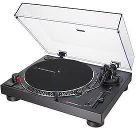 Audio-Technica AT-LP120X-USB BK -suoravetoinen ammattilevysoitin AT-VM95E-äänirasialla, musta