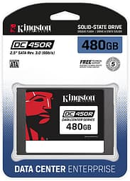 "Kingston DC450R 480 Gt SATA III 2,5"" SSD-levy"