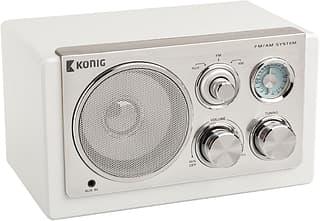 König HAV-TR1200 -pöytäradio, valkoinen