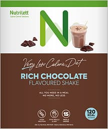Nutrilett VLCD Shake Rich Chocolate -ateriankorvikepirtelö, 33 g, 15-PACK