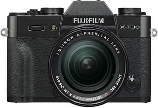 Fujifilm X-T30 -mikrojärjestelmäkamera, musta + 18-55 mm objektiivi