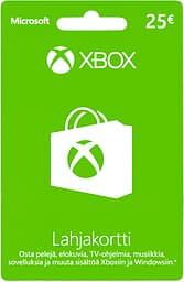 Microsoft Xbox / Windows lahjakortti 25 euroa, aktivointikortti
