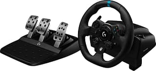 Logitech G923 Racing Wheel and Pedals for PS4 and PC -rattiohjain
