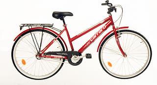 """Carraro Windy Lady 26"""" -kaupunkipyörä, 3-vaiht., punainen"""