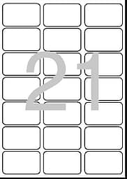 Dataline osoitetarra 63.1 x 38.1 mm/21 (A4)