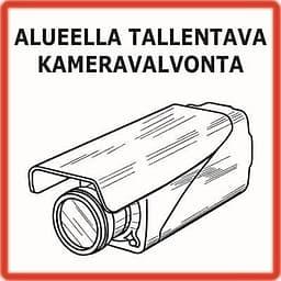Kameravalvonta-kyltti, 2 kpl