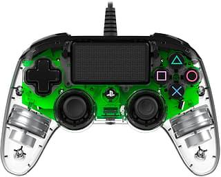 Nacon Wired Compact Controller Illuminated -peliohjain, vihreä LED, PS4