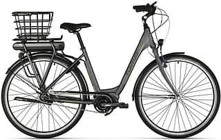"""Tunturi eForte 28"""" -sähköpyörä, 7-v, 50 cm, mattaharmaa/vihreä"""