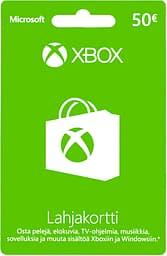 Microsoft Xbox / Windows lahjakortti 50 euroa, aktivointikortti