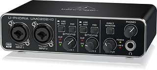 Behringer U-Phoria UMC202HD -äänikortti USB-väylään