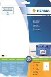 Herma 5065 -monikäyttötarra, Premium, 210 x 297 mm, 25 tarraa