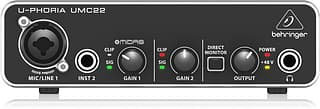 Behringer U-Phoria UMC22 -äänikortti USB-väylään