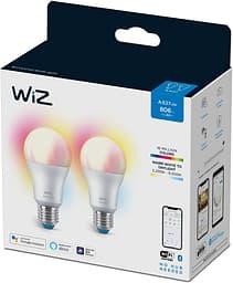 WiZ älylamppu, E27, RGBW - kaikki värit ja valkoisen valon sävyt, Wi-Fi, 806 lm, 2-pack